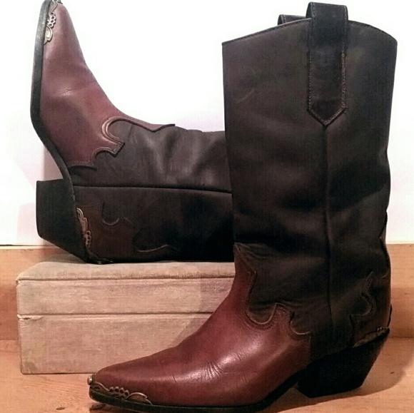 e2c02b78039 Vintage 80s Zodiac USA Boots Leather Sz 7 1/2 M